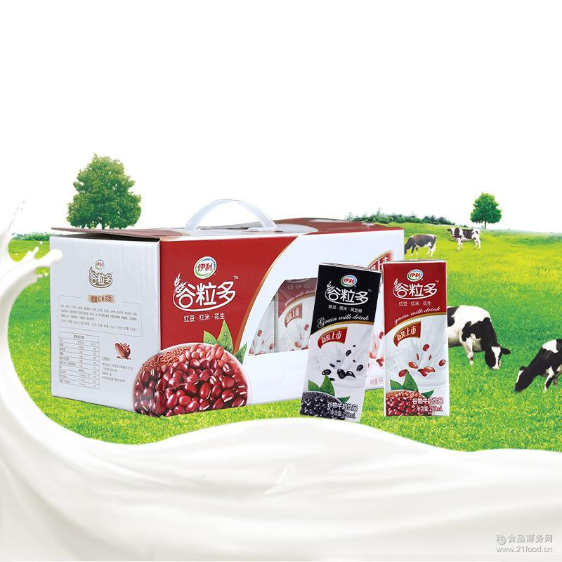 谷粒多红谷 伊利 250ml*12/箱 黑谷牛奶 早餐好选择谷物牛奶