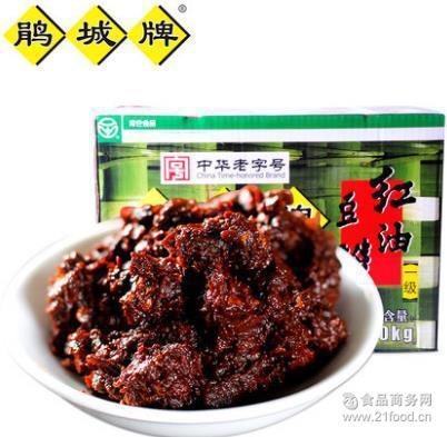 郫县豆瓣 一级红油豆瓣10kg彩箱装 鹃城牌