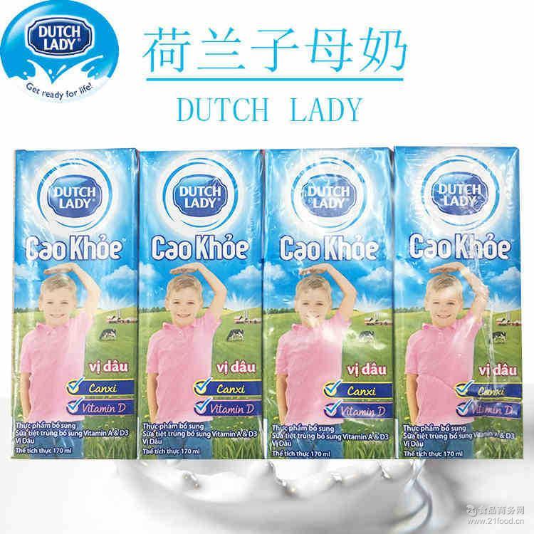 进口牛奶饮料批发 荷兰子母奶多口味低脂营养早餐奶170ml*12