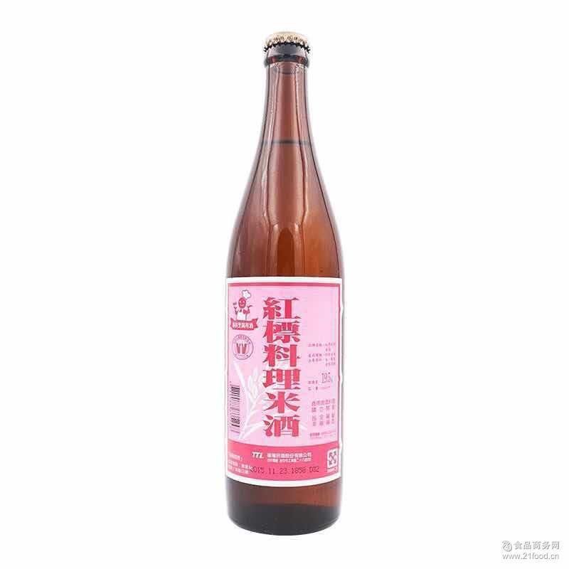 【中潭国际】【台湾进口】台湾红标料理米酒600ml 调味品批发