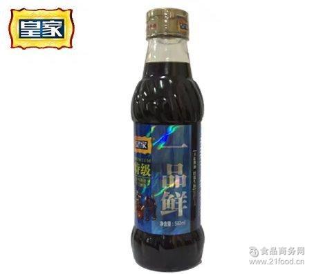 非转基因大豆酿造 调味品 *一品鲜500ml/瓶 特级酱油