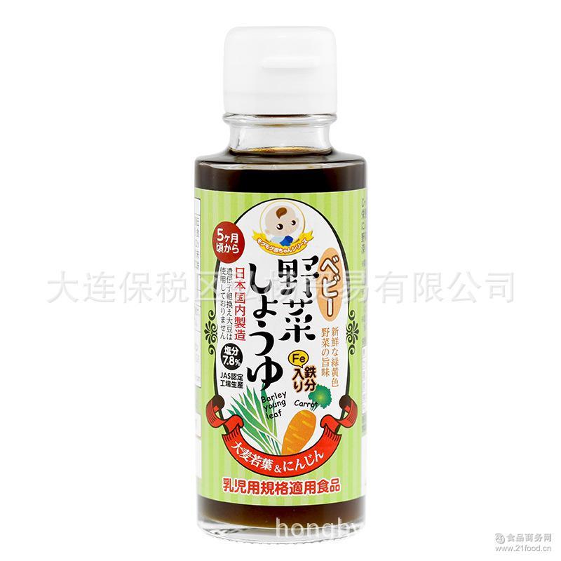 妙谷酱油大麦若叶味调味汁 儿童酱油调味料 宝宝调味品 日本进口