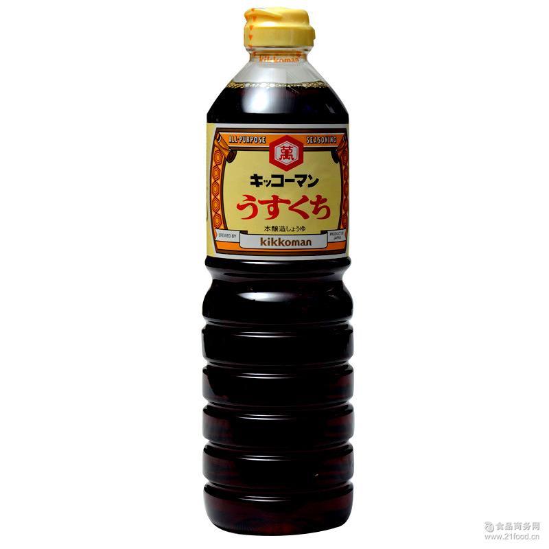 原装 进口 日本 龟甲万淡口酿造酱油(烹调用)1L 食品 龟甲万