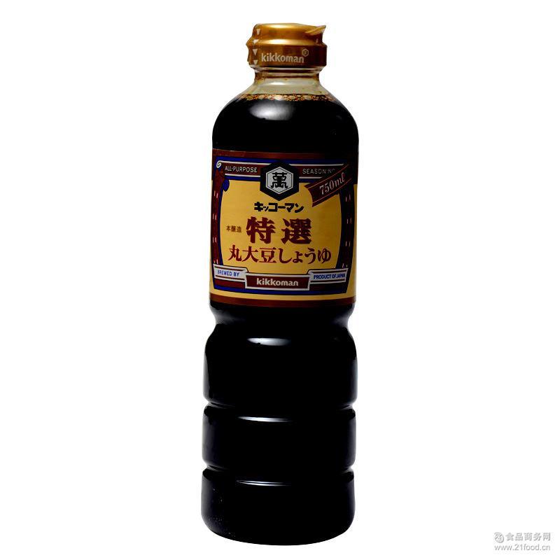 龟甲万特选酿造酱油750ml 进口 日本 食品 原装 龟甲万