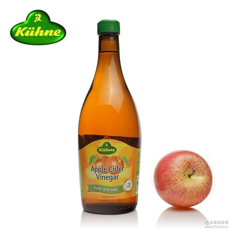 德国进口食品水果醋 无糖纯酿苹果醋750ml调味食醋调味食品批发