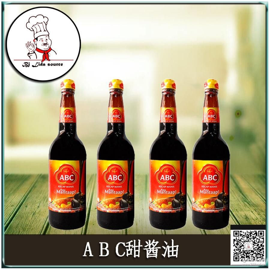 印尼原装进口ABC甜酱油大豆甜酱油膏批发620ml*12瓶