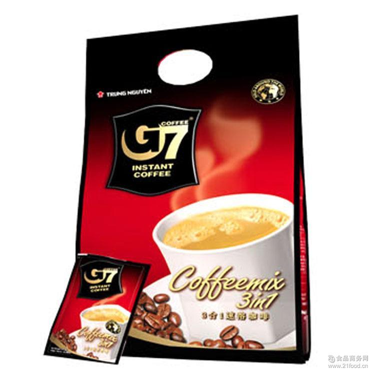 越南原装进口食品 coffee中原G7三合一速溶咖啡饮料800g整箱10袋