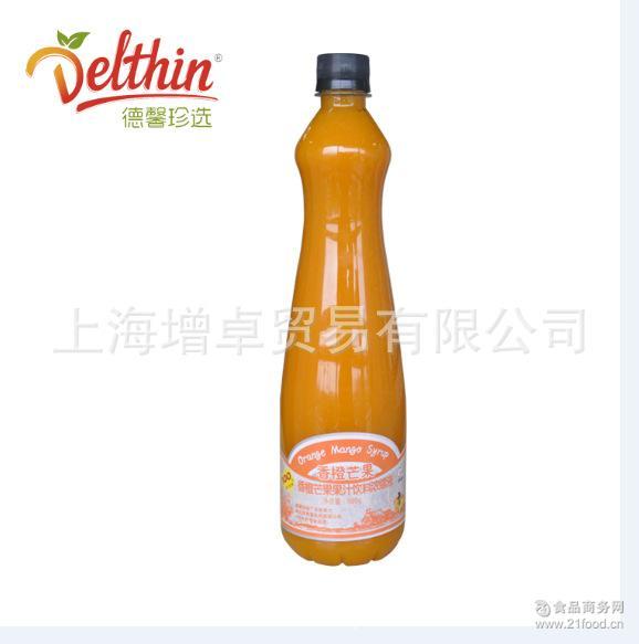 厂家直销德馨香橙芒果汁浓浆不含人工色素适用于饮料 冰沙甜品