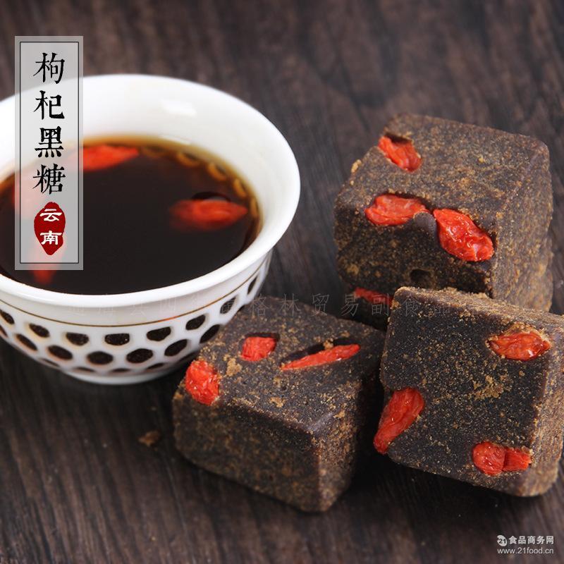 500g 古方法 土红糖 手工熬制 痛经暖宫 云南 纯甘蔗桂花味黑糖块