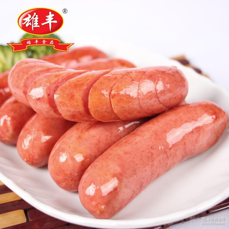 雄丰香肠批发烧烤热狗肉肠台湾风味火山石烤肠4*500g冷冻餐饮食品
