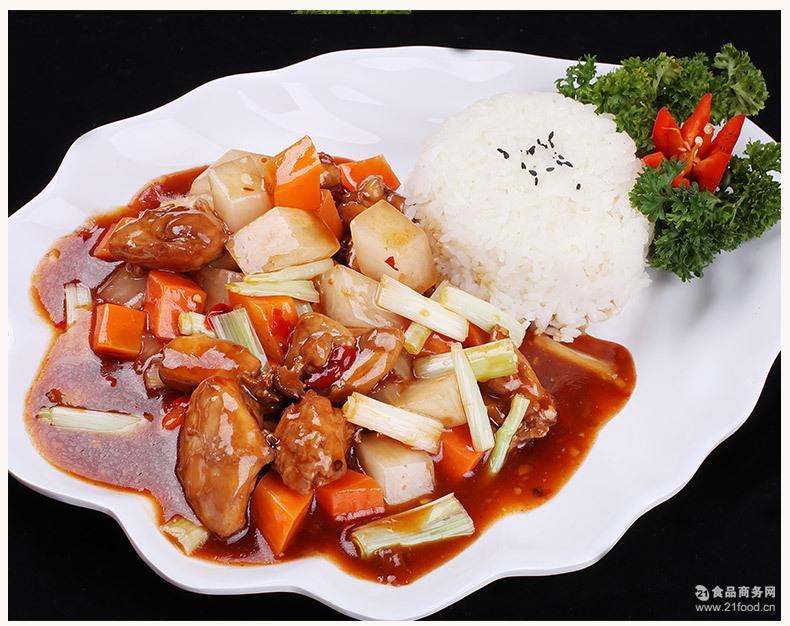 快餐厅外卖料理包 咖啡厅调理包熟菜 方便菜肴批发 酱爆鸡腿肉