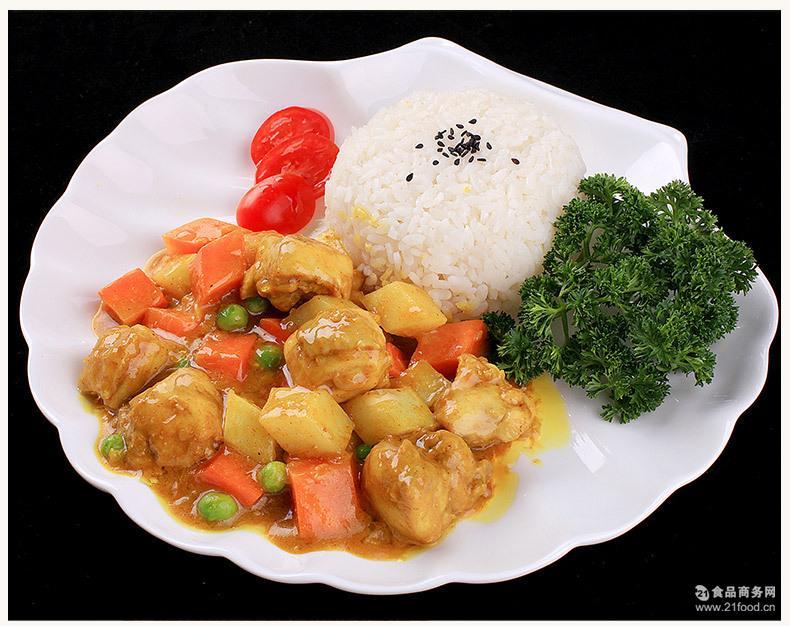 方便菜肴批发 咖喱鸡肉 快餐厅外卖料理包 咖啡厅调理包熟菜
