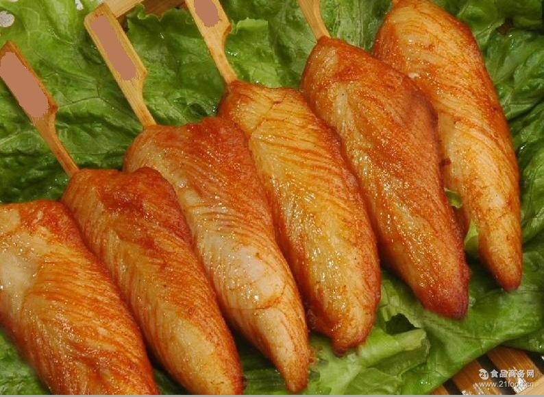 川香鸡柳串手抓饼半成品食材鸡肉串批发 冷冻半成品油炸速冻食品