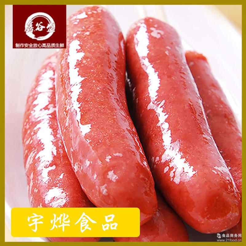 厂家批发冷冻热狗肠烧烤热狗肉肠台湾风味烤肠香肠
