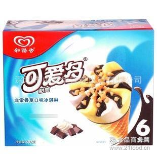 和路雪可爱多甜筒批发 深圳和路雪可爱多甜筒草莓口味雪糕批发