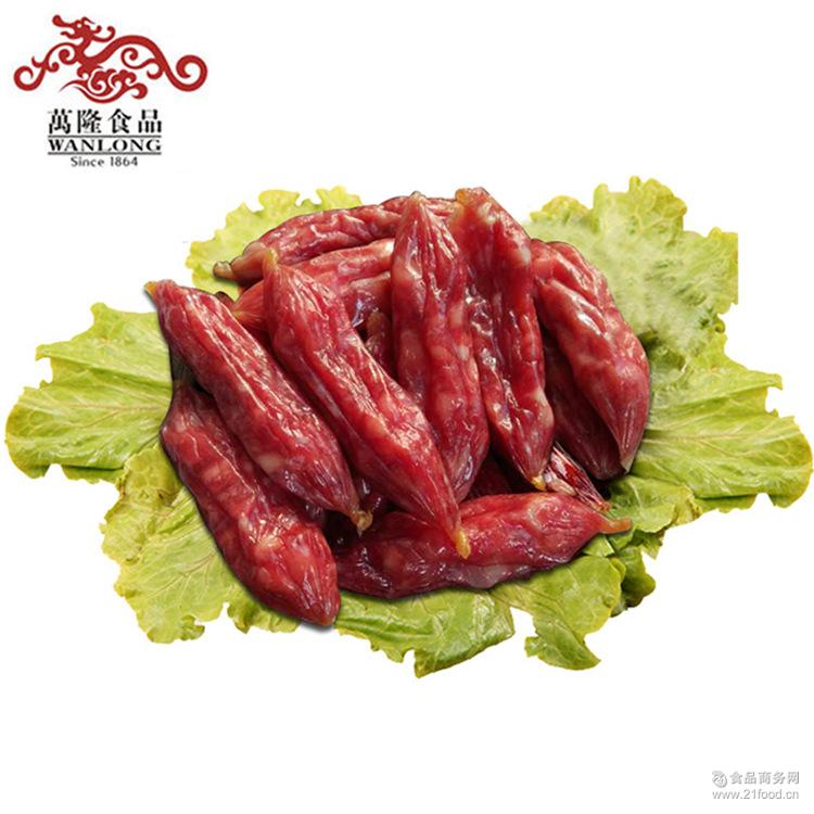 500g散装广式手工腊肠枣肠 杭州特产 百年老字号万隆优级香肠批发