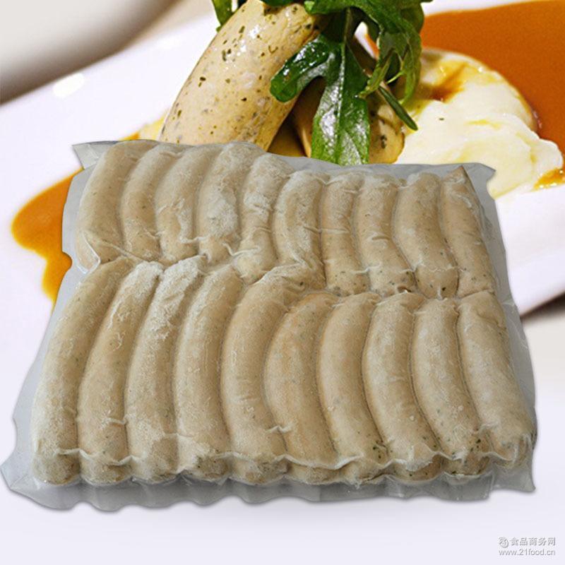 百倍德香肠慕尼黑式白肠2kg 西餐烧烤* 好吃纯肉烤香肠真空装