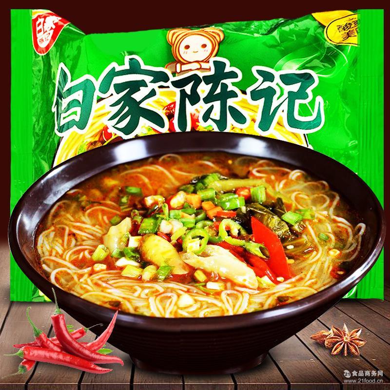白家陈记酸菜鱼方便粉丝110g/袋 非油炸酸辣粉方便粉丝