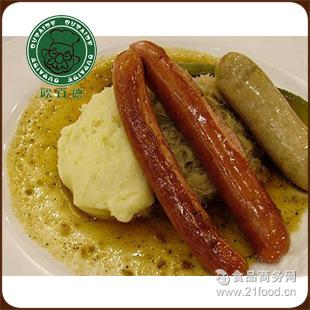 猪肉煎香肠33根1kg短款 欧百德 生制德国香肠纯肉烤肠热狗火腿肠