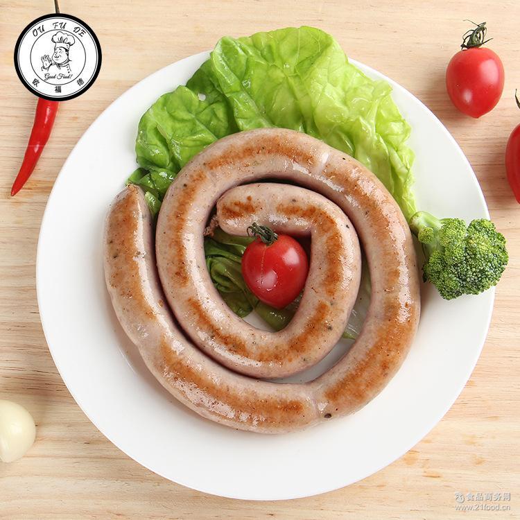 猪肉盘肠德式风味煎烤香肠早餐肠1kg三明治肠猪肉牛肉火腿批发