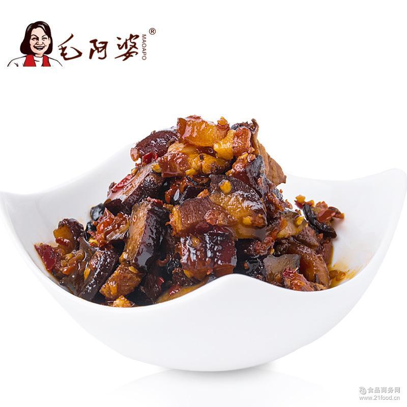 毛阿婆逗逗腊肉218g 农家自制即食香辣武冈豆腐加烟熏土猪肉批发