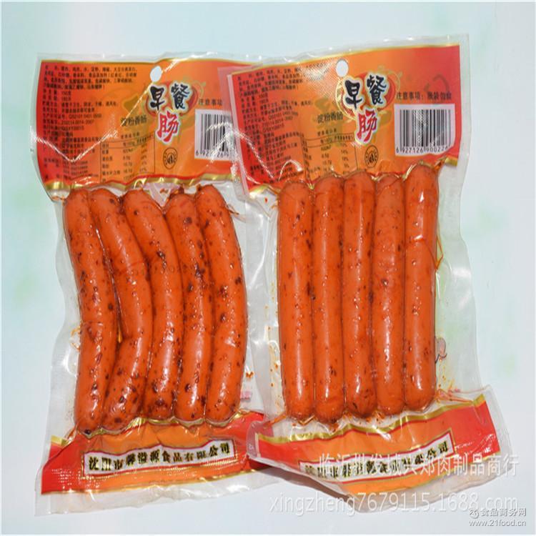 鑫溢源牌早餐肠150g 火腿肠猪肉肠休闲食品批发开袋即食 供应批发