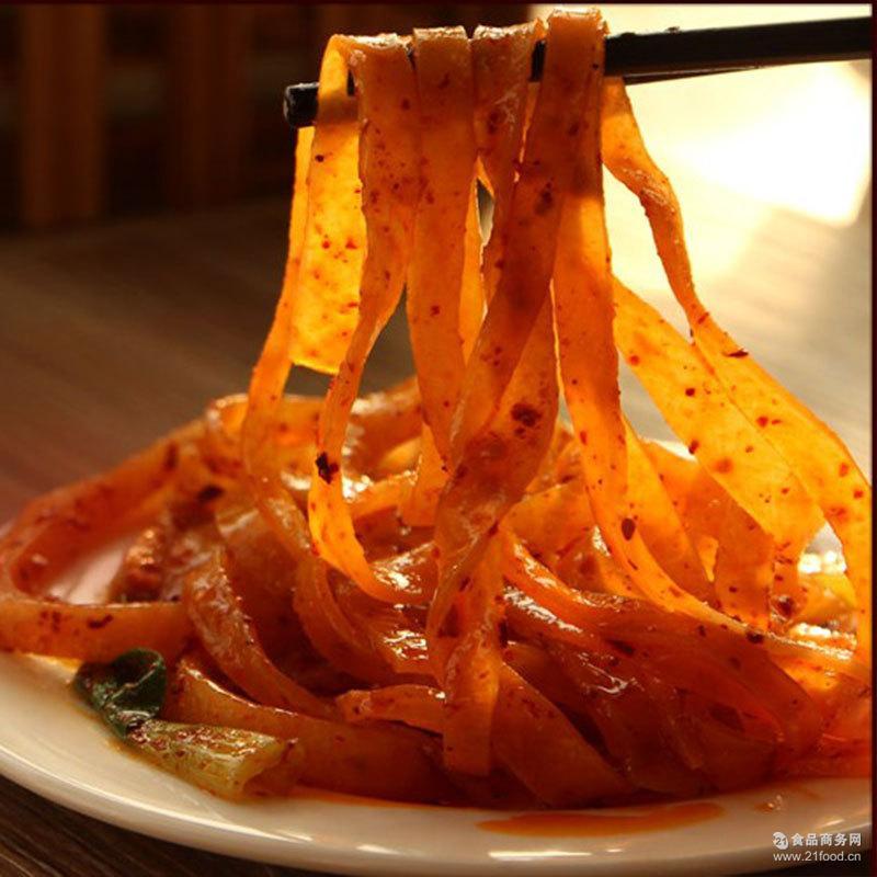 休闲食品微商货源 擀面皮 陕西特产美食 真空包装 凉皮传统小吃