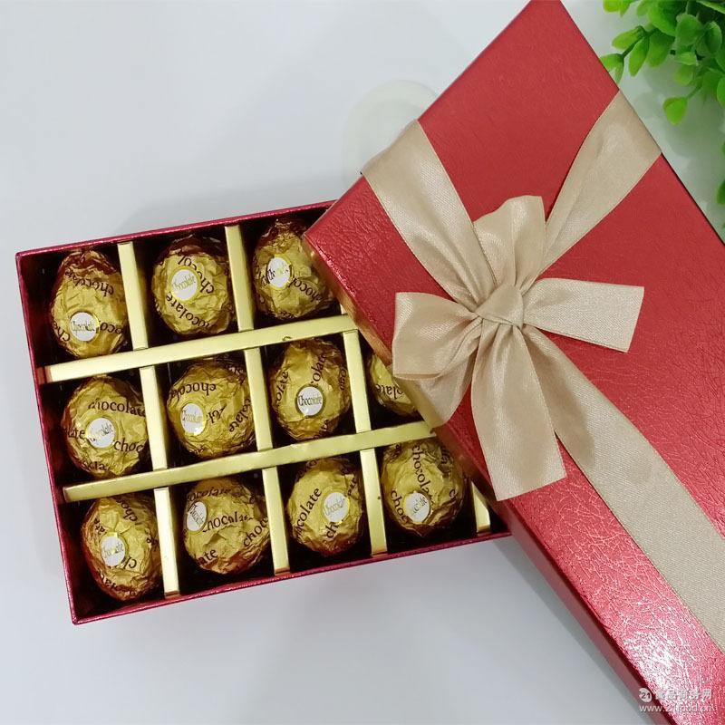 正品巧克力礼盒18颗创意diy创意糖果礼盒喜糖生日礼物
