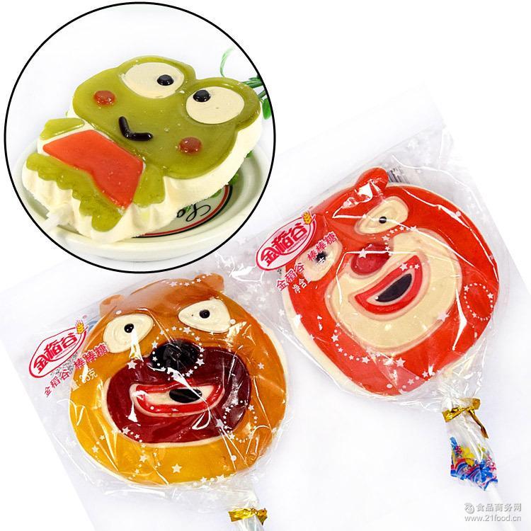 金稻谷35g布町棉花棒棒糖 低甜卡通造型儿童可爱礼物糖果批发