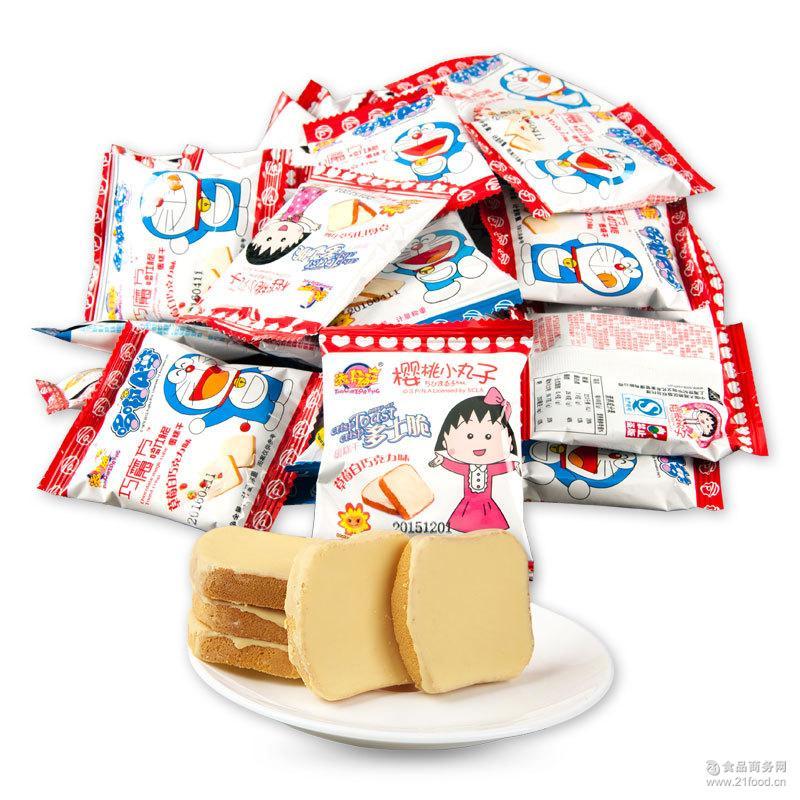 哆啦A梦小丸子脆蛋糕面包干散装4KG/箱饼干零食批发