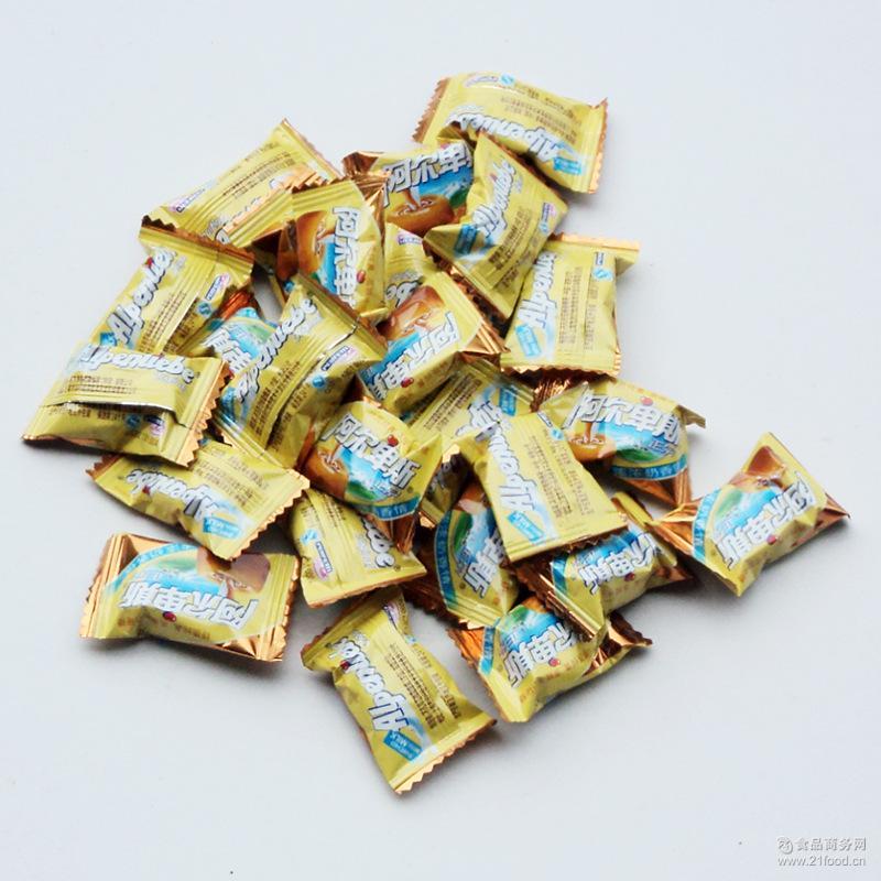 阿尔卑斯*牛奶硬糖 喜糖 糖果婚庆 五斤一袋 厂家批发