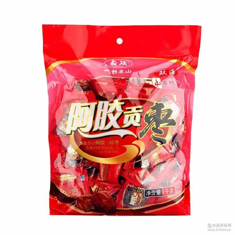 双海牌山东特产阿胶贡枣休闲食品蜜饯