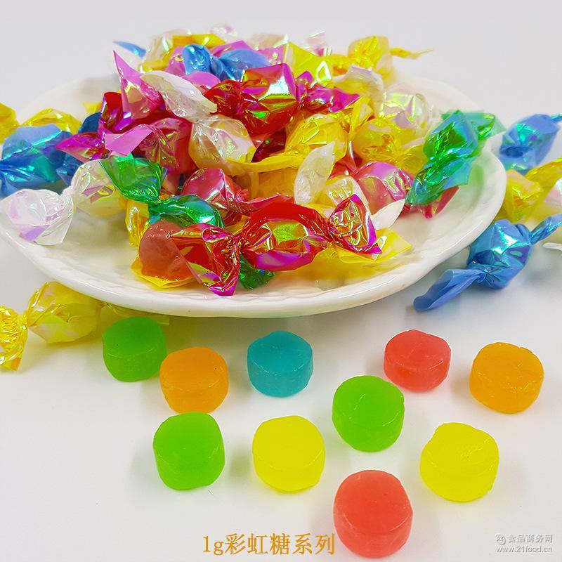 一邦千纸鹤糖果 水果味手工硬糖 散装彩色婚庆喜糖批发