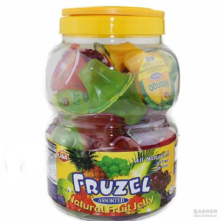 fruzel什锦果汁果冻天然水果冻1450g超值装 美国原装儿童零食NEO