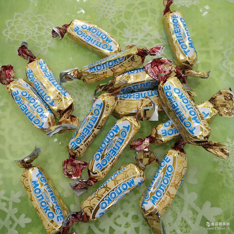 俄罗斯鲜奶威化巧克力 进口巧克力 威化巧克力糖果批发