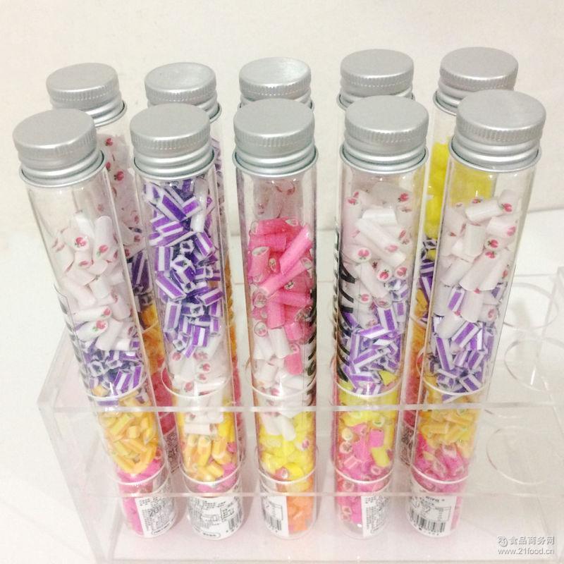爱伊佳试管瓶职人手造工艺糖 创意硬质糖果 水果切片糖果批发