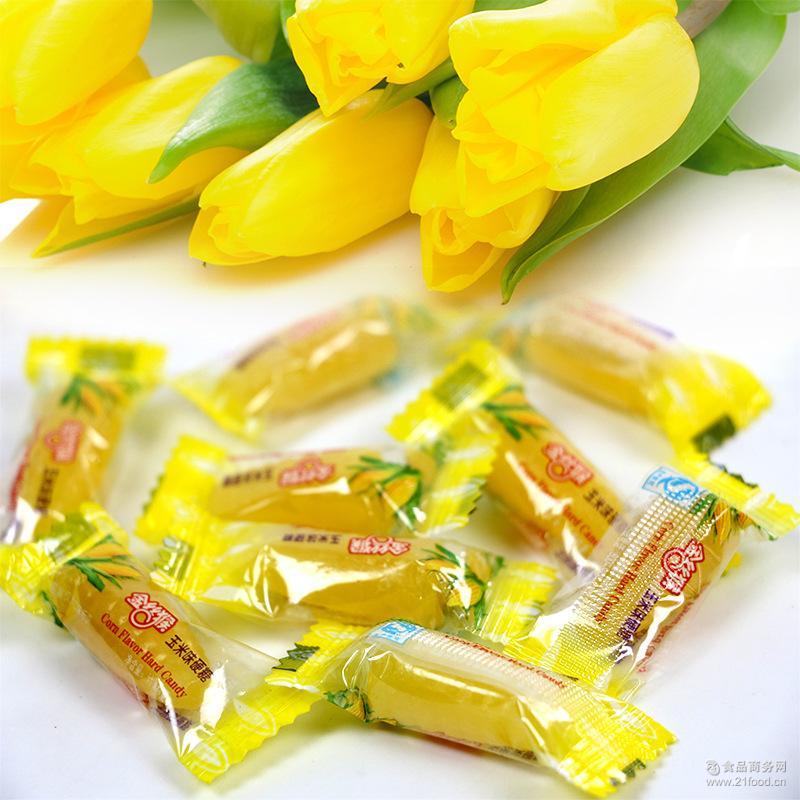 水果QQ玉米糖休闲食品结婚喜糖散称玉米糖批发 金丝猴玉米硬糖