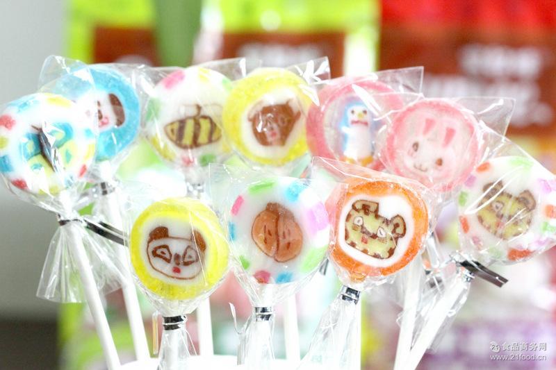 宝奴咪水果棒棒糖花朵图案动物图案150g水果味棒棒糖