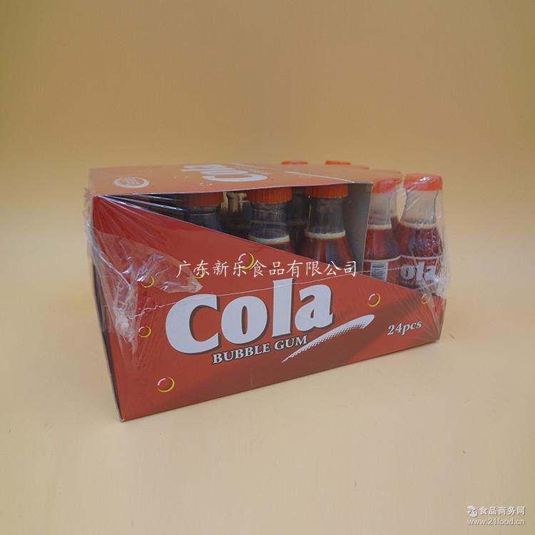批发供应可乐味泡泡糖 新乐清真休闲食品糖果口香糖24瓶