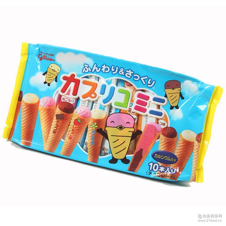 12包一箱 日本进口固力果草莓香草巧克力雪糕甜筒10枚89G