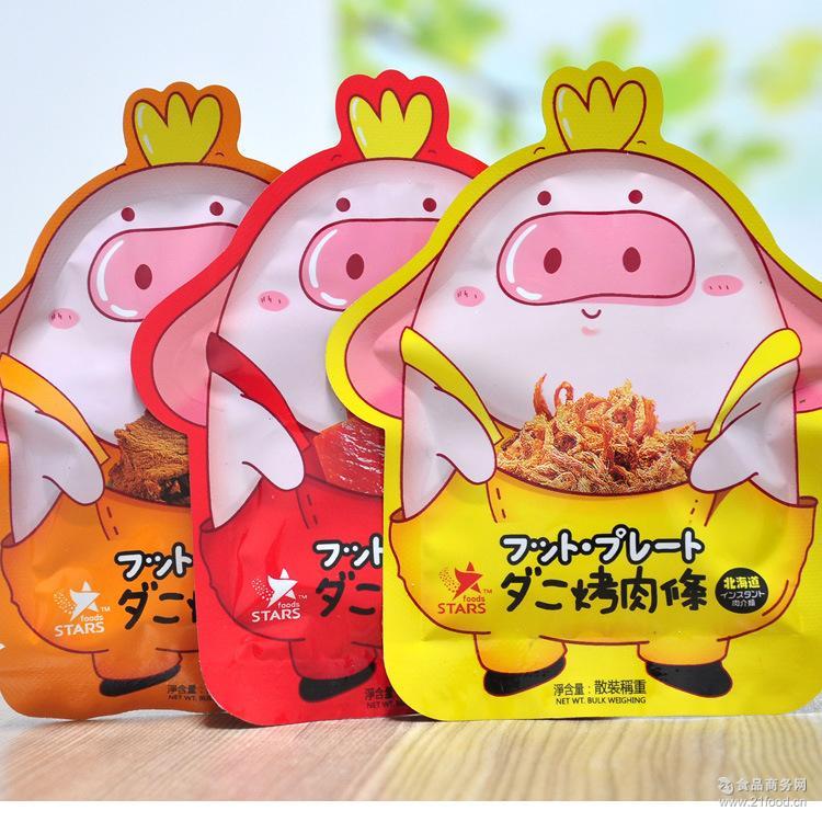 猪肉条 猪肉脯 众星 碳烤 香港休闲食品零食北海道 猪肉片