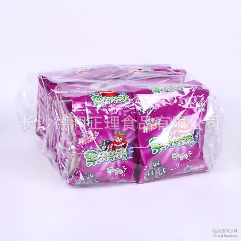 旺旺黑妞果汁软糖18g*40包*4盒/件 胶型凝胶糖果QQ弹力糖超市*
