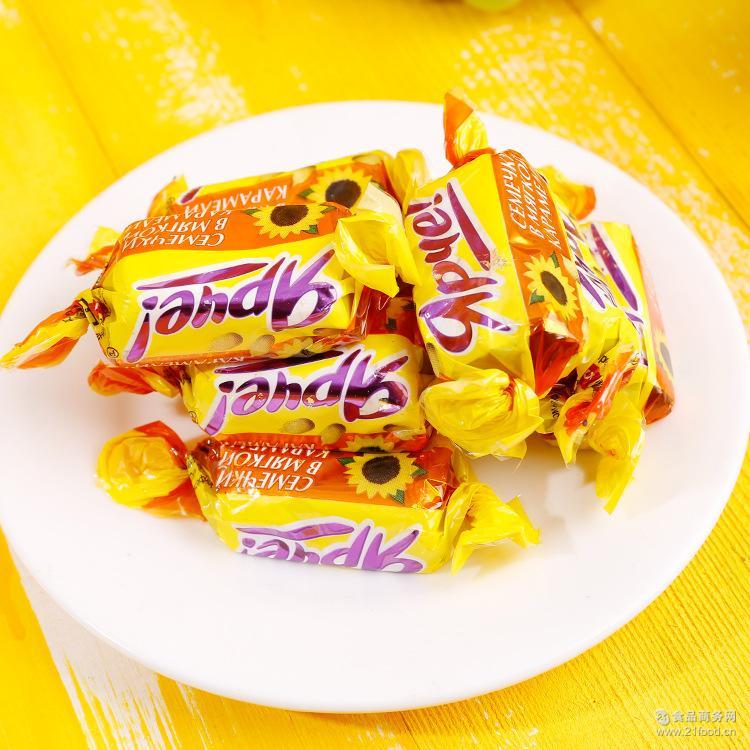 巧克力糖果瓜子仁夹心 俄罗斯原装进口KDV牌葵花籽巧克力夹心糖果