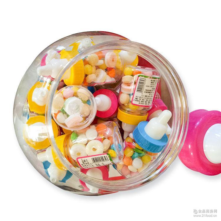 彩豆玩具糖 奶瓶糖批发 脆皮糖 软糖