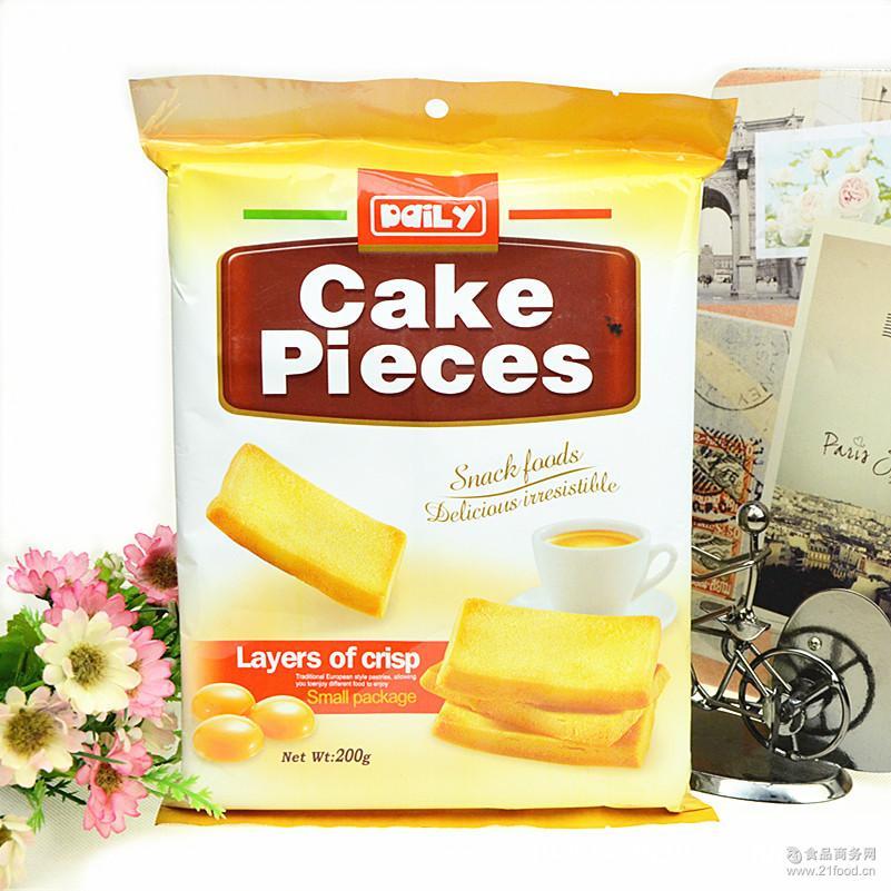 香港黛莉鸡蛋煎饼干烤蛋糕 零食品早餐点心鸡蛋饼干面包糕点