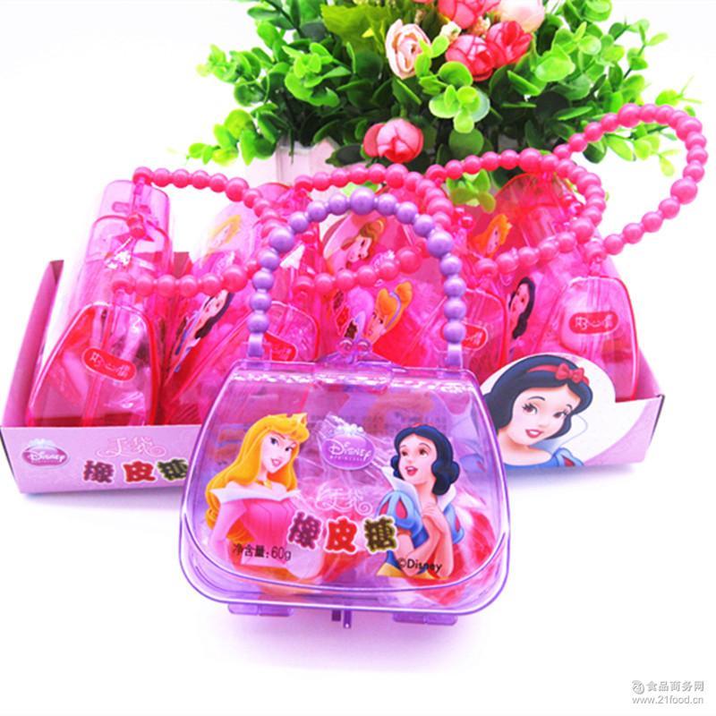 手袋橡皮糖方包提包玩具糖糖果休闲零食批发 好心情