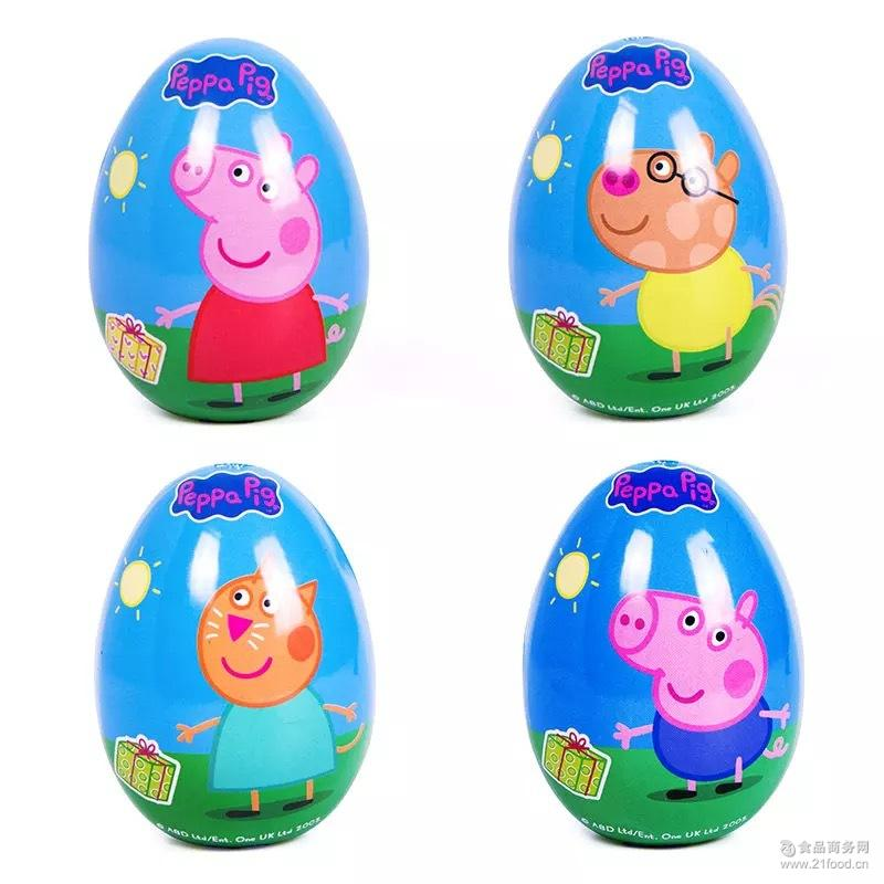 小猪佩奇惊奇蛋果汁软糖宝宝儿童零食佩佩猪蛋10g奇趣玩具蛋