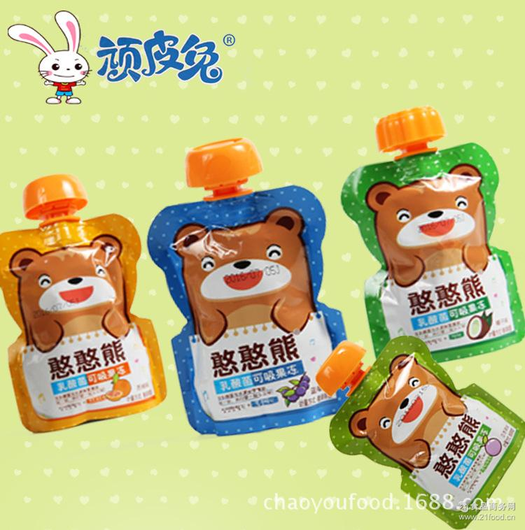 顽皮兔10斤散装憨憨熊乳酸菌可吸果冻多口味休闲食品儿童喜爱零食