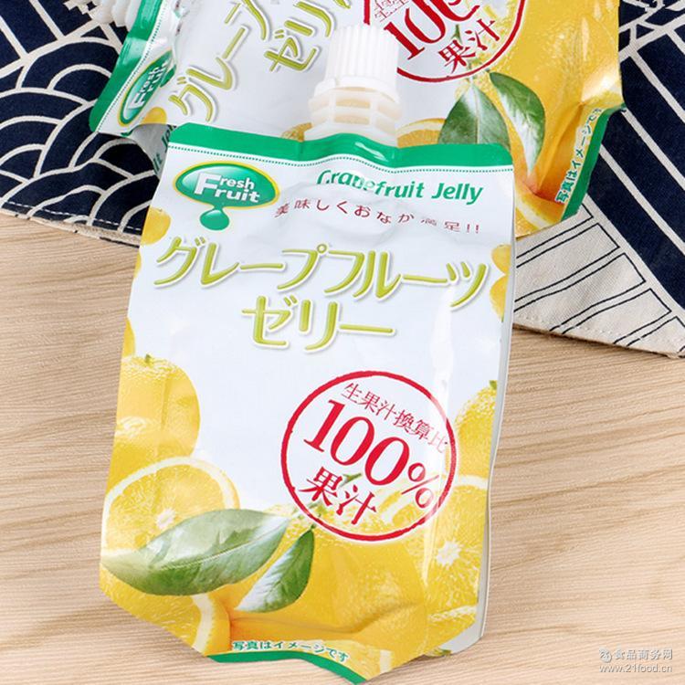 西柚味果汁165g/袋 水果可吸果冻 出口零食儿童星宇可吸果冻批发