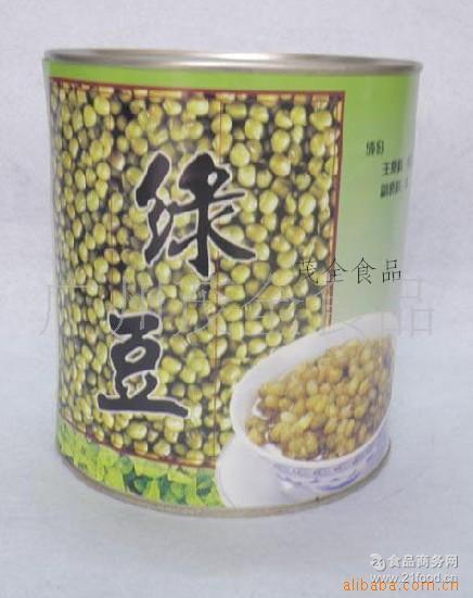 名忠小罐绿豆 蜜绿豆糖水罐头 900G 刨冰冰沙双皮奶甜品专用